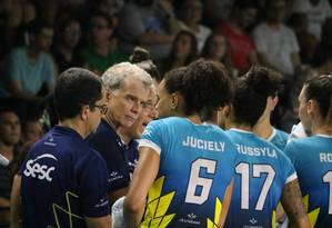 Bernardinho e sua equipe: Rio está fora da Superliga Foto: Divulgação