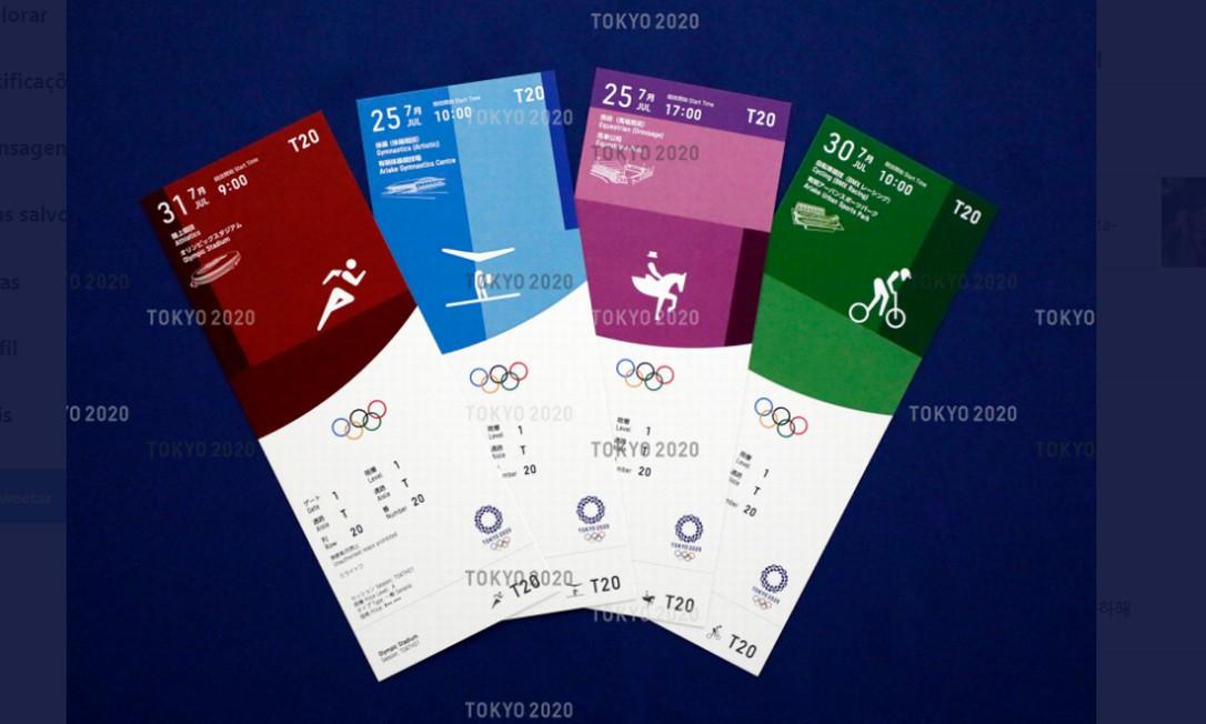 Esses são alguns dos bilhetes da Olimpíada Foto: Reprodução
