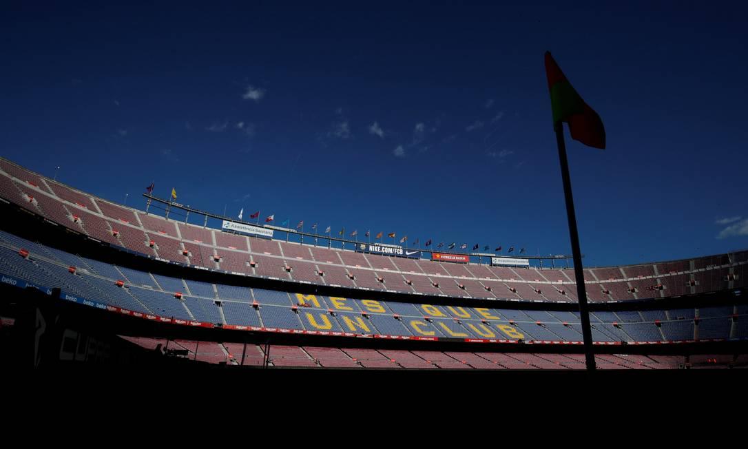 Camp Nou não terá público na Liga dos Campeões Foto: ALBERT GEA / REUTERS