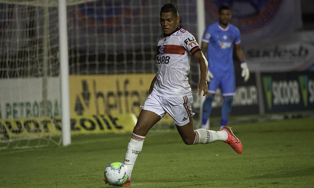 Pedro Rocha em ação contra o Bahia Foto: Divulgação Flamengo