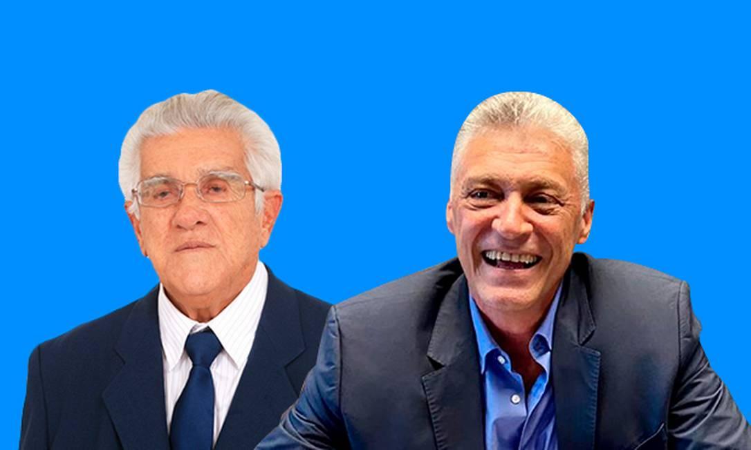 Toroca e Túlio: concorrem à presidência da CBV que tem orçamento de R$ 80 milhões Foto: Arte O GLOBO