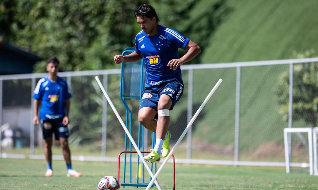 Marcelo Moreno no treino desta terça Foto: Divulgação