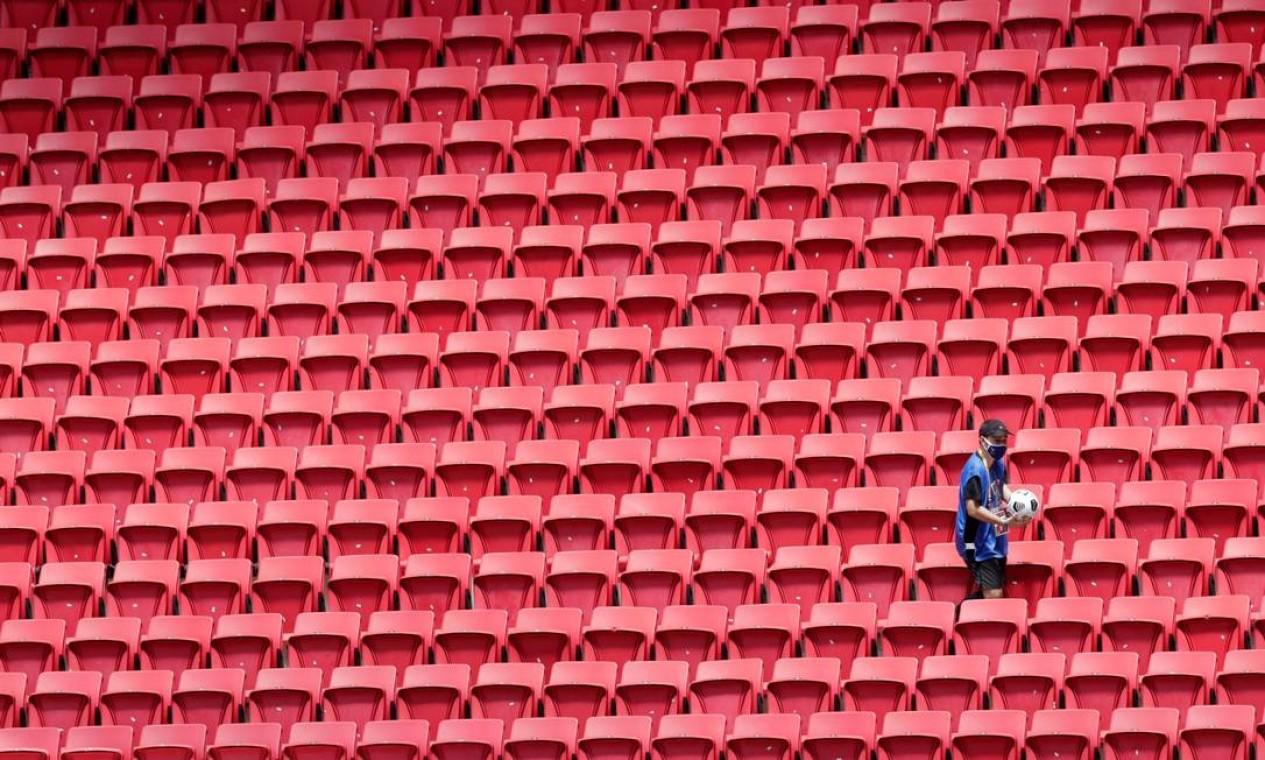 Estádio Mané Garrincha não recebeu público para a final da Supercopa Foto: UESLEI MARCELINO / REUTERS
