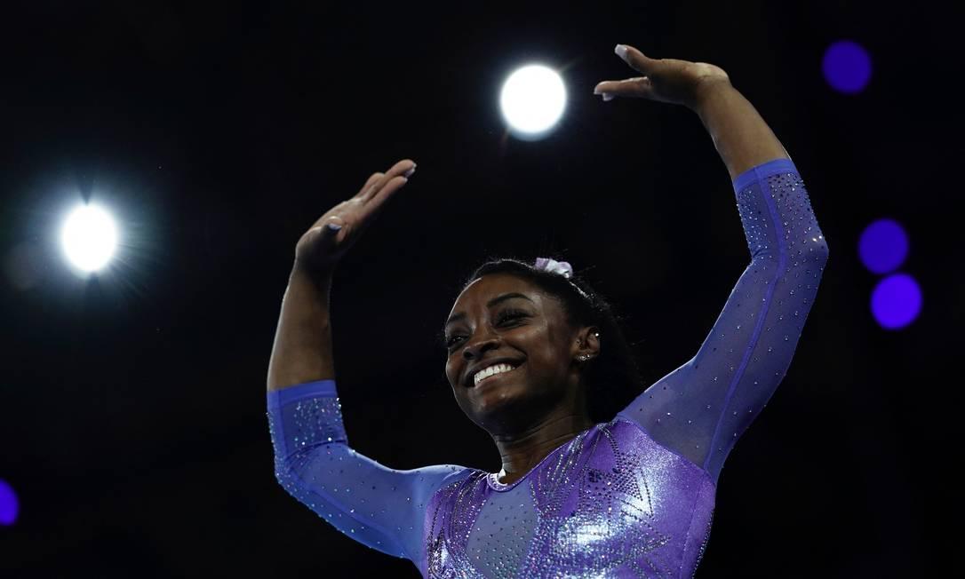 A americana de 24 anos tem 25 medalhas em mundiais Foto: LIONEL BONAVENTURE / AFP