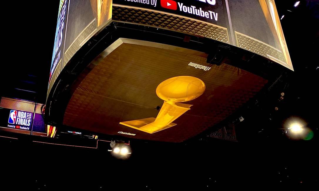 Arena do Phoenix Suns já decorada para receber os dois primeiros jogos das finais da NBA Foto: NBA Brasil