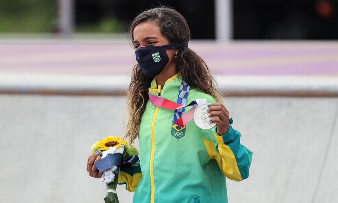 Rayssa Leal, medalhista de prata no Skate.  Foto: Wander Roberto / COB