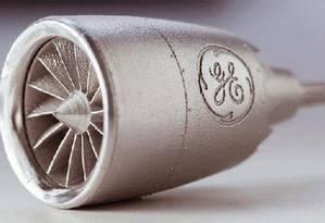 Essa peça foi produzida pelos Engenheiros da GE com técnicas avançadas de impressão 3D Foto: Caminhos Para o Futuro
