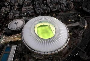 Estádio do Maracanã tem iluminação especial que traz maior nitidez Foto: Erica Ramalho/ EMOP