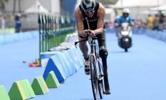 Paratriatleta compete nos Jogos Rio 2016 Foto: Rio 2016