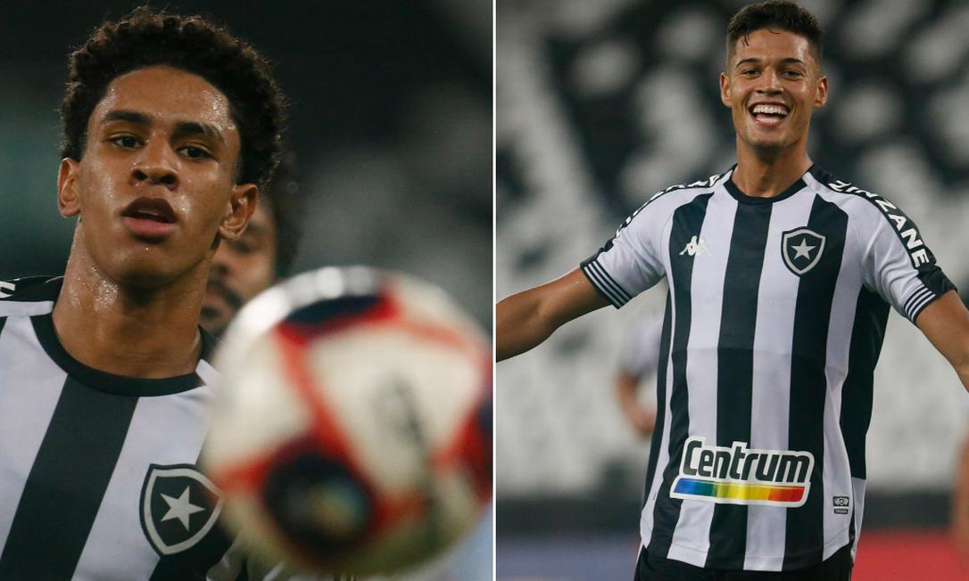 Botafogo acerta a transferência de Paulo Victor, de 20 anos, e Sousa, de 19 Foto: Vitor Silva/Botafogo