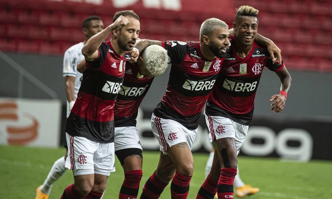 Flamengo enfrentou o Palmeiras em Brasília pelo Brasileirão 2020 Foto: Alexandre Vidal / Agência O Globo