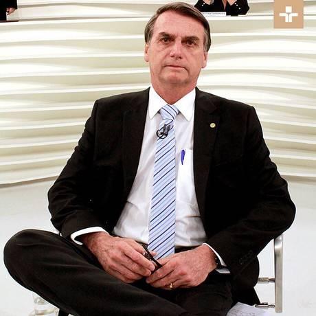 Bolsonaro no Roda Viva, da TV Cultura Foto: Reprodução