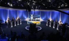 Debate dos candidatos à Presidência na Rede TV. Foto: Marcos Alves / Agência O Globo