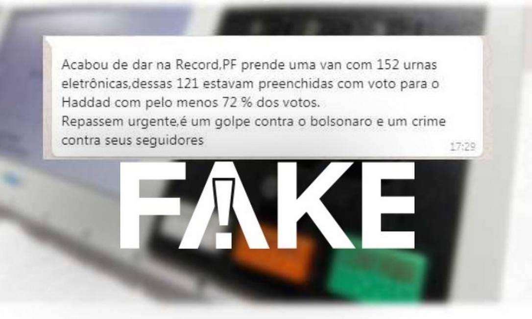 Polícia Federal e TSE não fizeram apreensões de urnas falsificadas Foto: Reprodução