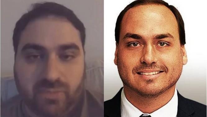 Homem em vídeo não é filho de Bolsonaro Foto: Reprodução/Redes Sociais