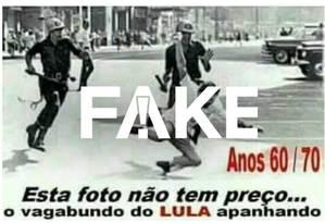 Homem que aparece na foto não é o ex-presidente Lula Foto: Reprodução