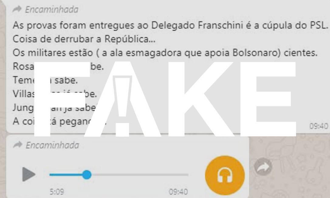 Áudio afirma que fraude em urnas recolhidas no Paraná foi comprovada; informações são falsas Foto: Reprodução