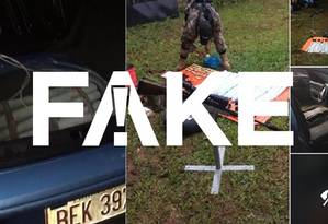 Mensagem falsa afirma que carro-bomba seria usado em atentado contra Bolsonaro Foto: Reprodução