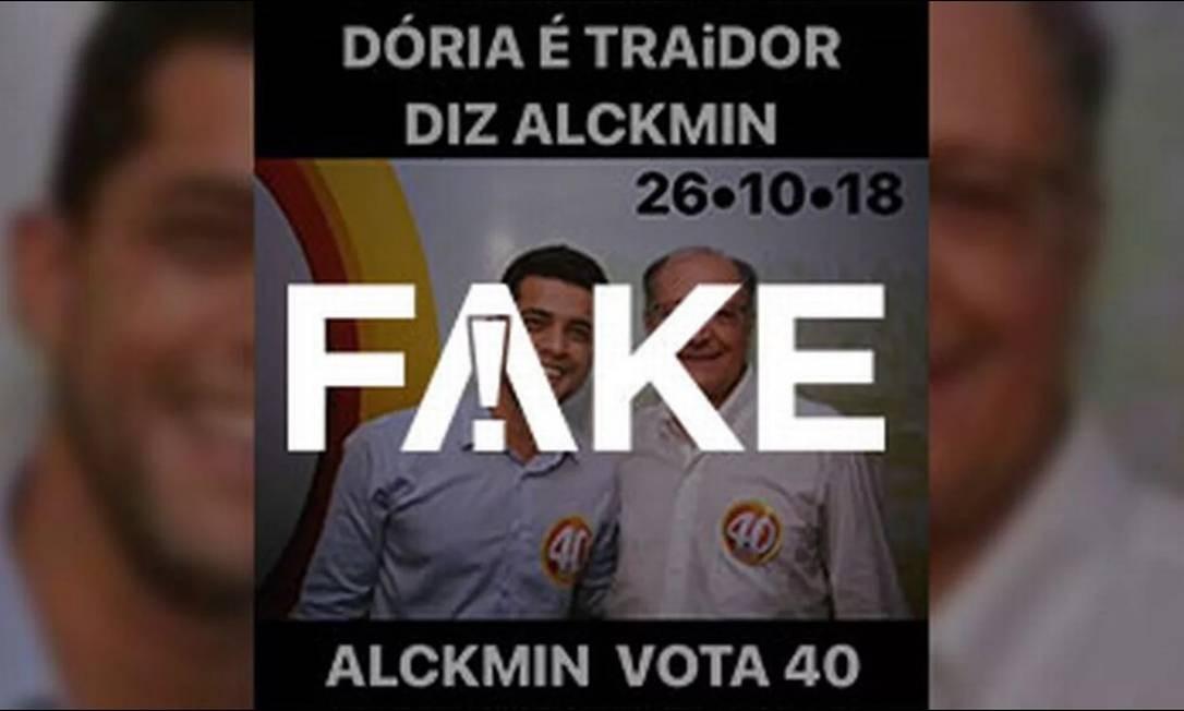 Texto que acompanha foto diz que ex-governador Geraldo Alckmin vota 40, mas imagem é da eleição passada Foto: Reprodução