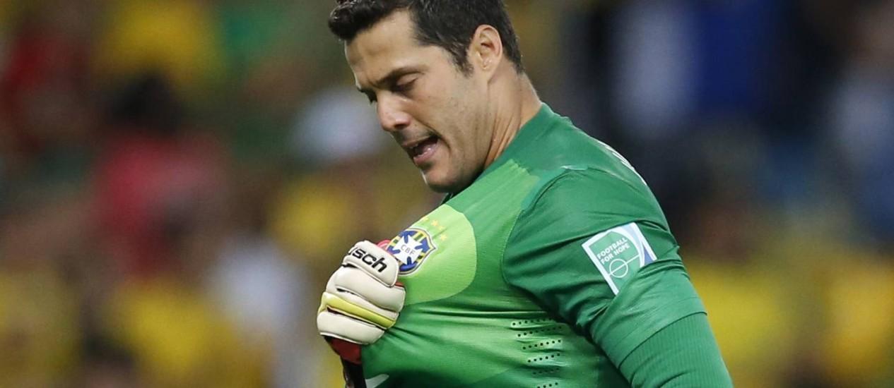 O goleiro Júlio César vai jogar na Major League Soccer Foto: Jorge Silva / Reuters