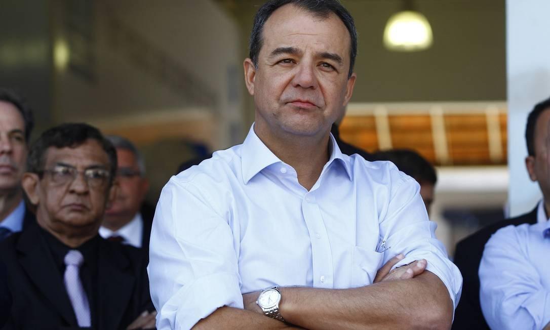 Cabral disse não ter definido quando deixa o governo Foto: Pablo Jacob / Arquivo O Globo
