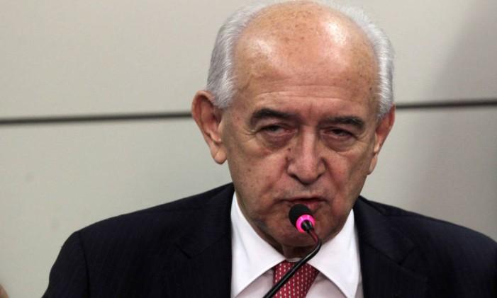O ministro do Trabalho, Manoel Dias, durante coletiva Foto: Givaldo Barbosa