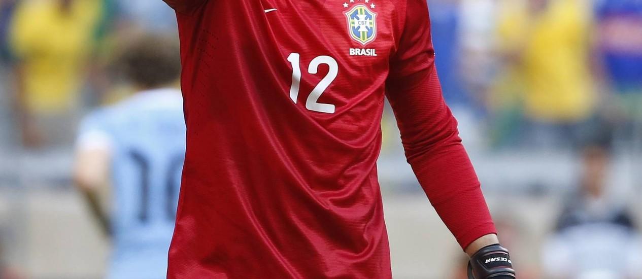 Júlio César é o jogador mais experiente do grupo convocado por Felipão Foto: Ivo Gonzalez / O Globo