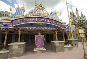 Entrada do Princess Fairytale Hall, nova atração no Magic Kingdom, em Orlando Foto: Ali Nasser / Divulgação