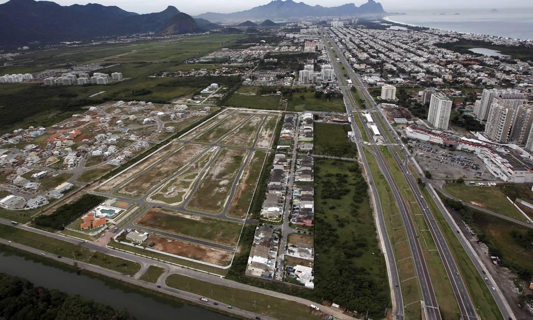 Áreas alagadas no Recreio dos Bandeirantes Foto: Custodio Coimbra / O Globo