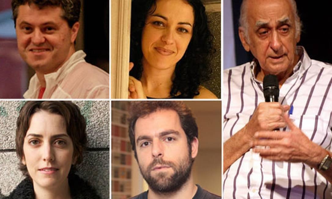 Lísias, Marcia Tiburi, Zuenir, Daniel Galera e Paloma Vidal Foto: Fotos de divulgação e agência O Globo