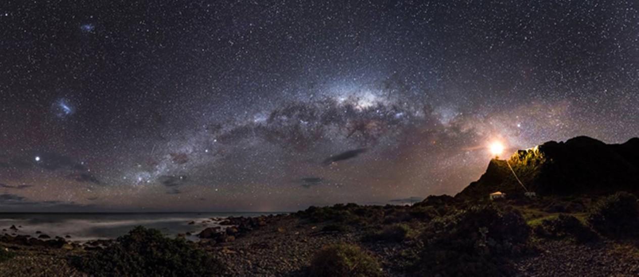 Foto tirada na Nova Zelândia ganha concurso de astronomia Foto: Mark Gee/Reprodução