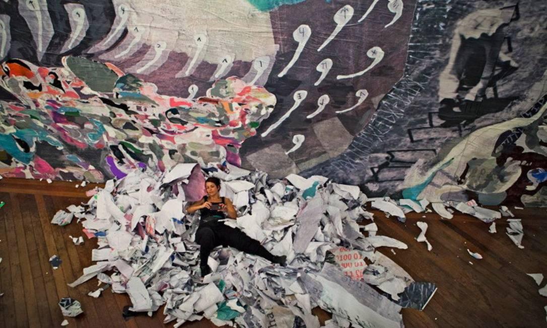 Trabalhos da artista plástica Joana César nas ruas do Rio Foto: Terceiro / Divulgação