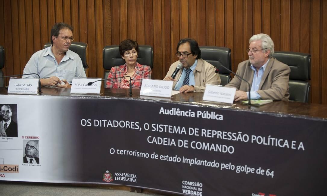 Comissão da Verdade de São Paulo em audiência pública nesta sexta-feira Foto: Agência Brasil