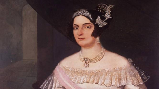 Domitila. Quadro da década de 1830 Foto: Arquivo