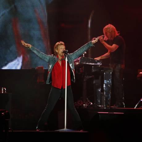 Bon Jovi encerra os trabalhos no Palco Mundo no Rock in Rio de 2013 Foto: Ivo Gonzalez / Agência O Globo