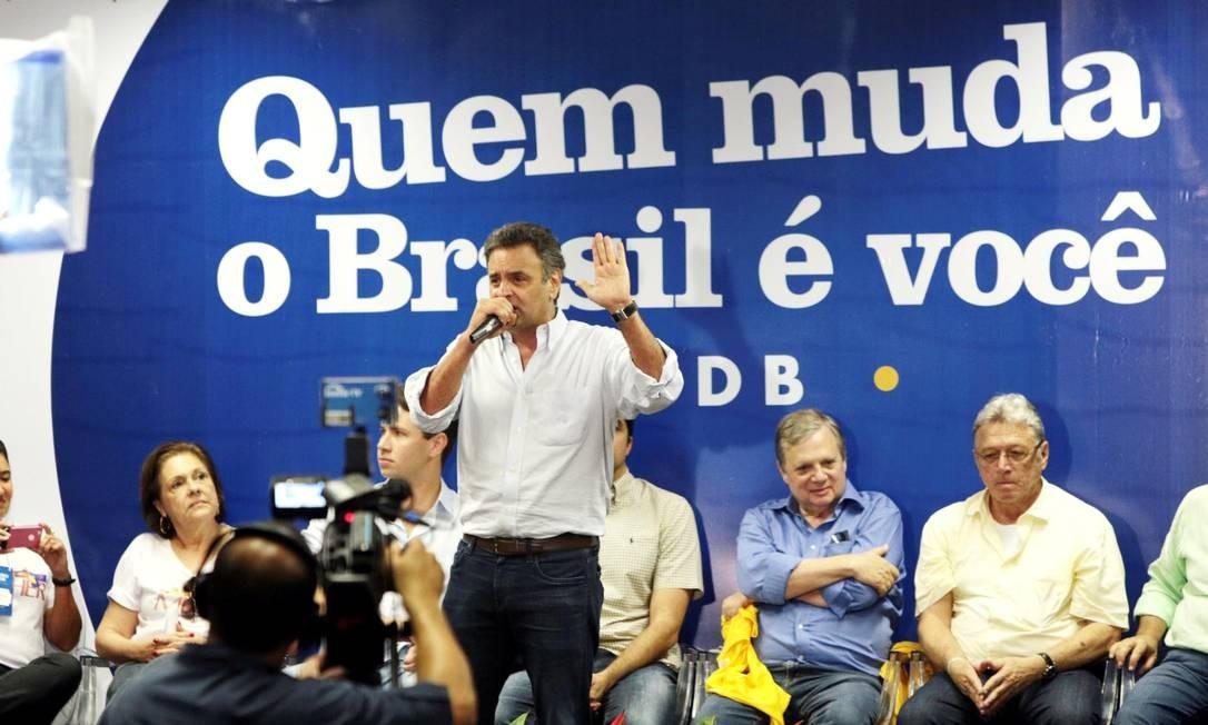 Aécio Neves participa de encontro regional do PSDB no Nordeste Foto: OrlandoBrito / Divulgação