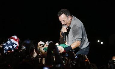 Bruce Springsteen no Rock in Rio, em 2013 Foto: Ivo Gonzalez / Agência O Globo
