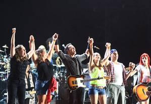 Show de Bruce Springsteen no Rock in Rio Foto: Urbano Erbiste / Agência O Globo