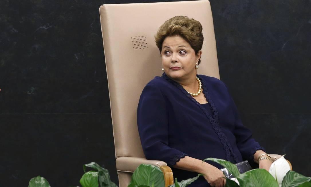 A presidente brasileira, Dilma Rousseff, durante discurso na Assembleia Geral Foto: MIKE SEGAR / REUTERS