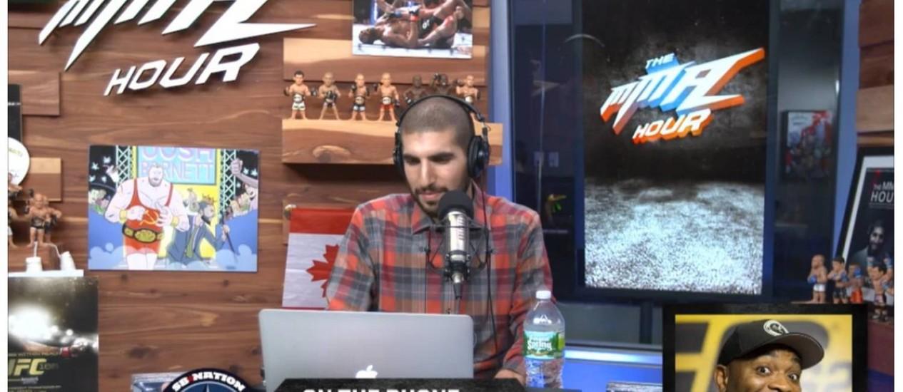 Anderson Silva em entrevista ao programa de TV dos EUA 'MMA Hour': Foto: Reprodução de vídeo