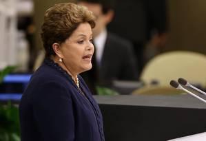 Em um dos discursos mais veementes do encontro, a presidente brasileira, Dilma Rousseff, criticou a espionagem das agências dos Estados Unidos Foto: JOHN MOORE / AFP