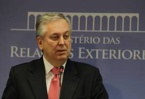 O Ministro de Relações Exteriores, Luiz Alberto Figueiredo Foto: Ailton de Freitas / O Globo