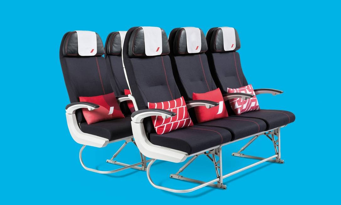 Novas poltronas da classe econômica da Air France Foto: Claire-Lise Havet / Divulgação