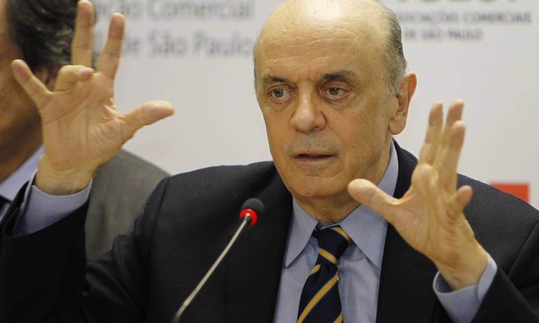 Ex-governador de São Paulo, José Serra Foto: Michel Filho/12-08-2013