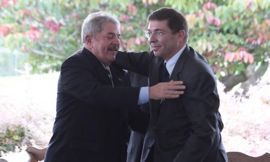 O ex-presidente Lula durante evento de filiação ao PMDB do presidente da Coteminas, Josué Gomes da Silva, filho do ex-vice-presidente José Alencar Foto: André Coelho/O Globo