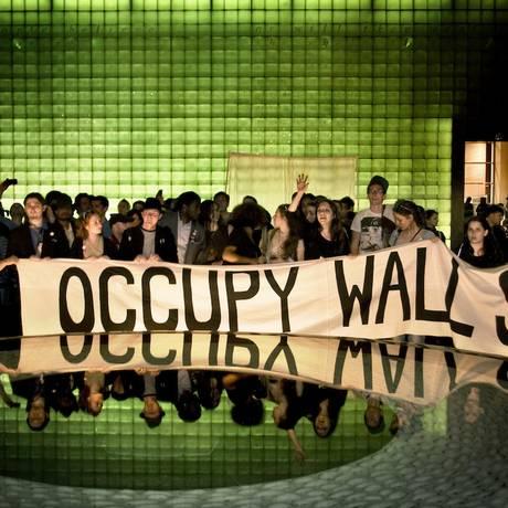 Cena do filme sobre o movimento Occupy Wall Street Foto: Divulgação