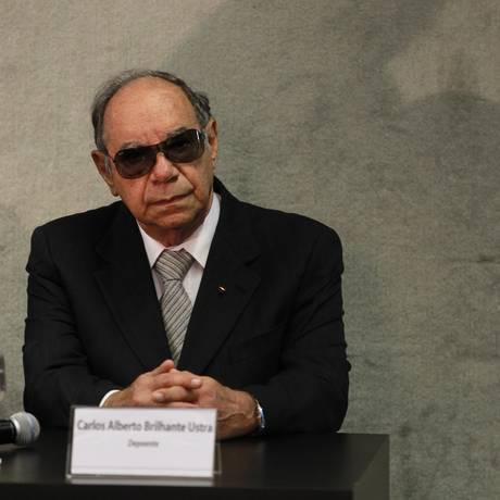 Coronel reformado Carlos Alberto Brilhante Ustra, ex-comandante do DOI-Codi entre 1970 e 1974 Foto: Ailton de Freitas / O Globo