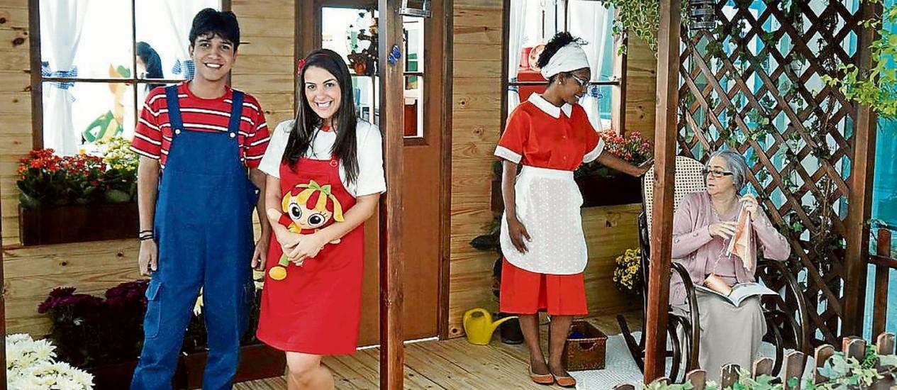 Pedrinho, Narizinho, Tia Nastácia e Dona Benta. Personagens de Monteiro Lobato estarão no VillageMall Foto: Divulgação / VillageMall
