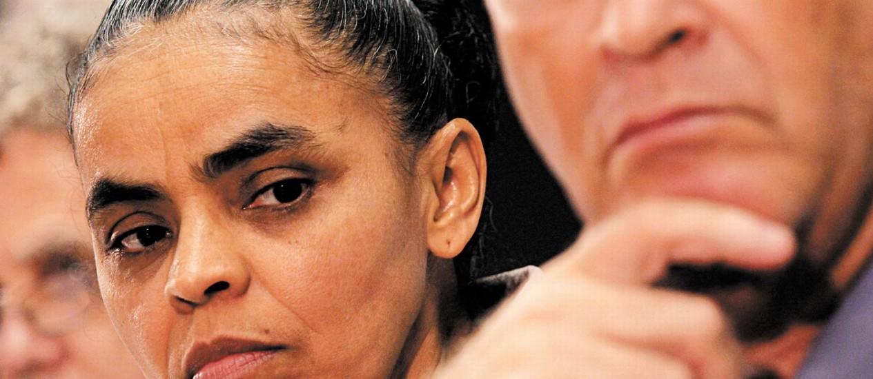 A ex-senadora Marina ainda não conseguiu atrair políticos de peso; Alfredo Sirkis é seu principal articulador no Rio Foto: O GLOBO / André Coelho