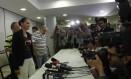 Ex-senadora Marina Silva antes de falar à imprensa Foto: Ailton de Freitas / O Globo